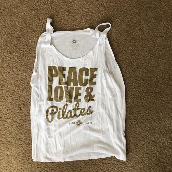 ab77010a0dbed4 Club Pilates Tops - Club Pilates - Peace Love Pilates Tank Top